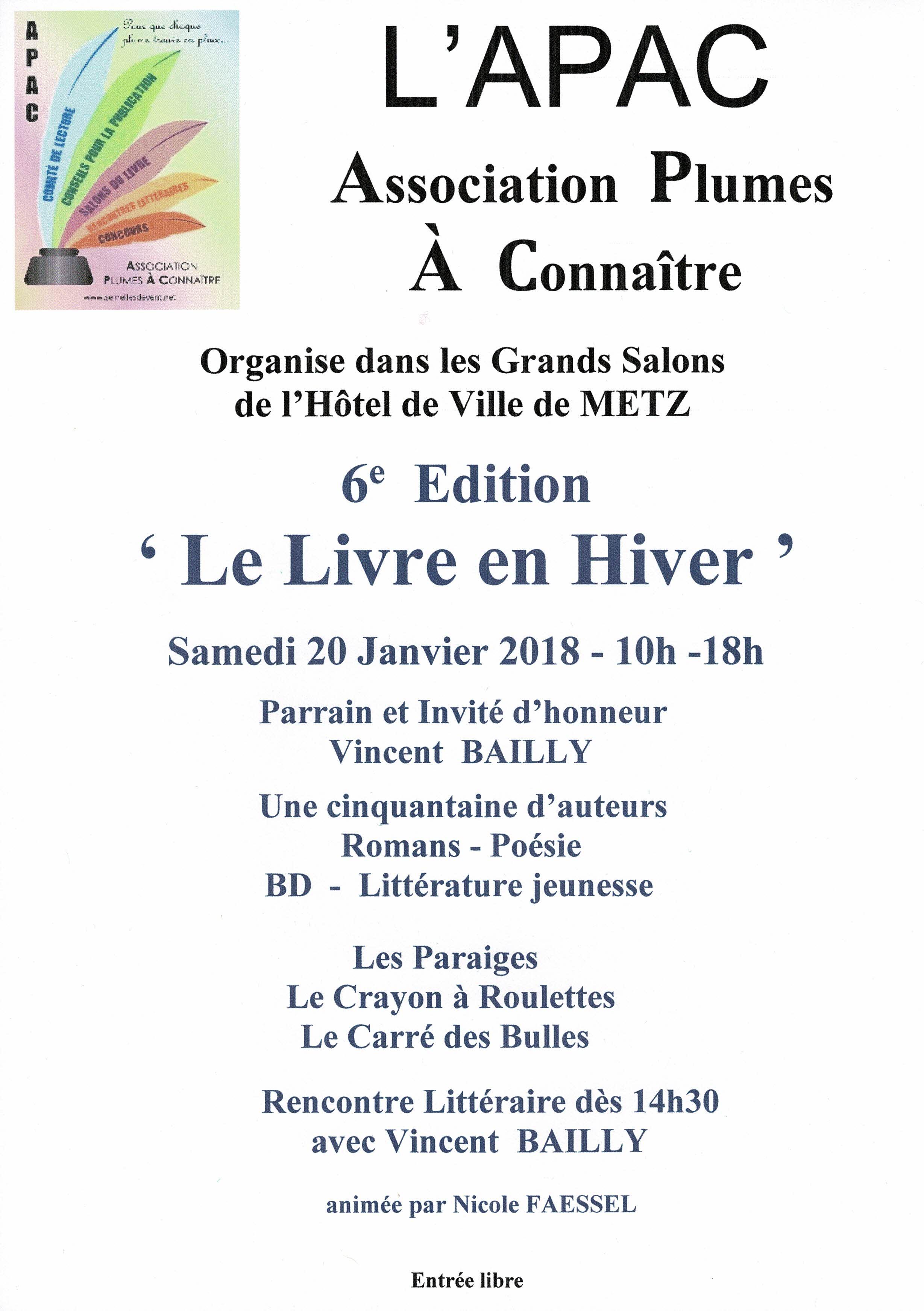 SALON ' LE LIVRE EN HIVER' 2018